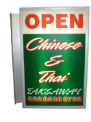 Double Sided Lightbox Sign